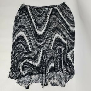 CJ BANKS Black White Skirt 2X
